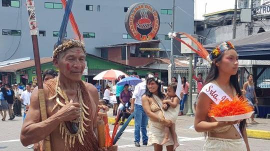 Delegaciones de pueblos ancestrales. Foto: El Universo