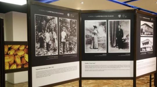 Parte de la muestra 'El origen del Cacao', un recorrido cronológico de este producto. Foto: El Comercio