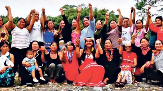 La foto oficial del evento muestra a las participantes orgullosas de sus diversas nacionalidades. Foto: EL TELÉGRAFO