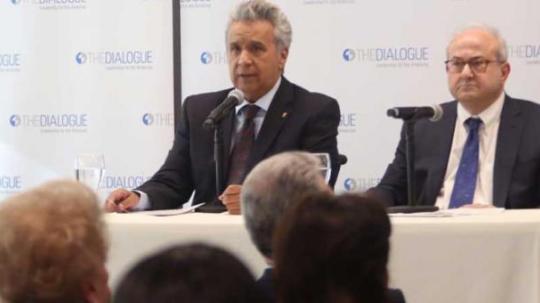 El presidente Lenín Moreno habló de Julian Assange y las acciones en redes sociales para cuestionarlo. Foto: El Comercio