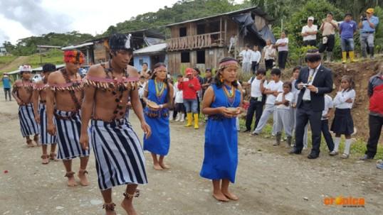 Representantes de la comunidad de Uwents fueron beneficiados. Foto: Crónica