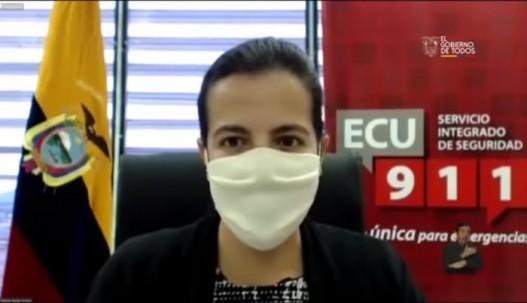 María Paula Romo es la encargada de entregar las cifras diarias de contagiados.