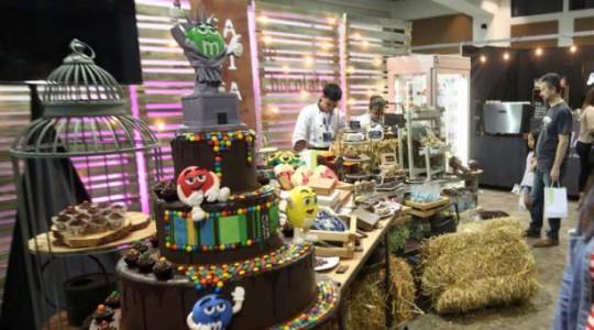 Décima primera edición del Salón del Chocolate Ecuador, que se celebra en el Quorum del Paseo San Francisco. Foto: El Comercio
