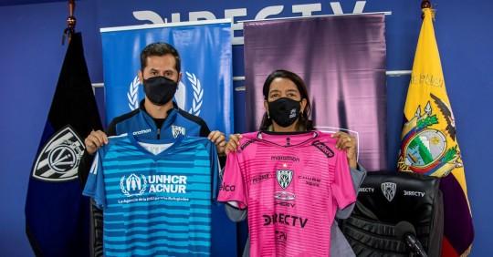 Independiente del Valle y ACNUR se unen para integrar a refugiados / Foto: EFE