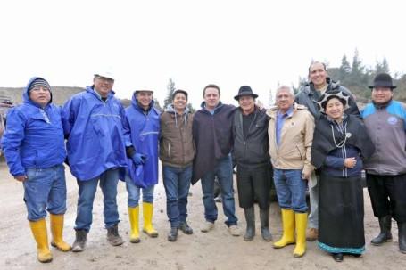 Autoridades se reunieron para evaluar los resultados de la minga vial Saraguro-Yacuambi. Foto: La Hora