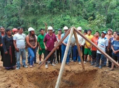 La construcción se ubica a 300 metros de la población de Shaime - Foto: Zamora Chinchipe