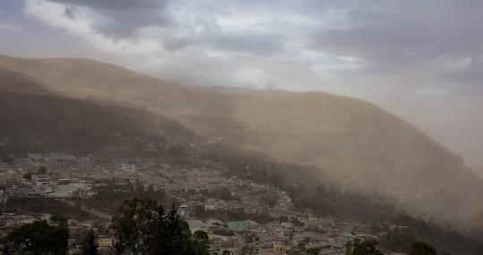 Caída de ceniza del Sangay afecta a cinco provincias / Foto EFE