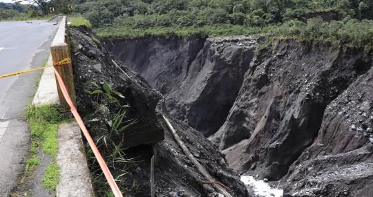 La erosión del río Coca avanza y sigue causando destrucción / Foto El Oriente