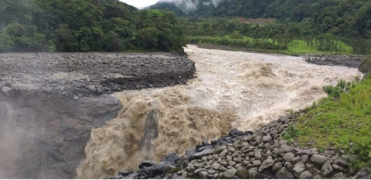Erosión de la cascada San Rafael - Foto: El Universo