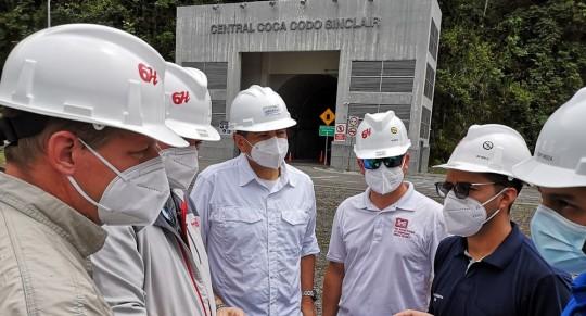 Establecen cooperación técnica entre Ecuador y Especialistas del Cuerpo de Ingeniero del Ejército de Estados Unidos  / Foto: cortesía Ministerio de Energía