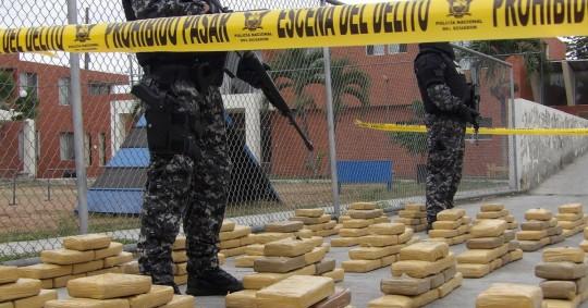 Aprehensión de droga en bananos de Ecuador superó las 10 toneladas desde 2020 / foto cortesía Ministerio de Gobierno