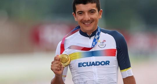 Richard Carapaz competirá en la Vuelta a Ecuador / Foto: EFE