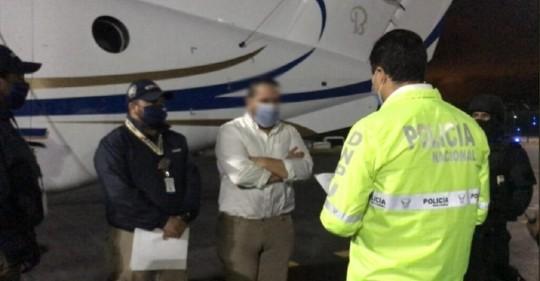 Jacobo Bucaram fue trasladado a la cárcel tras ser expulsado de Colombia / Cortesía de la Fiscalia de Ecuador