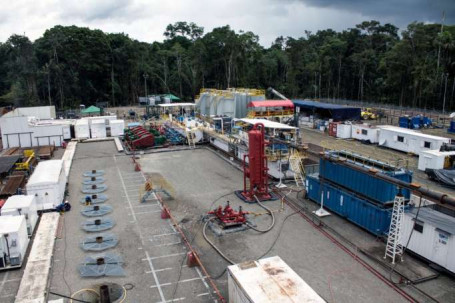 Instalaciones en el campo Tabococha, que empieza producción petrolera. Foto: La Hora