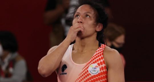 Luisa Valverde rozó el bronce en el Mundial de lucha / Foto: cortesía Comité Olímpico Ecuatoriano