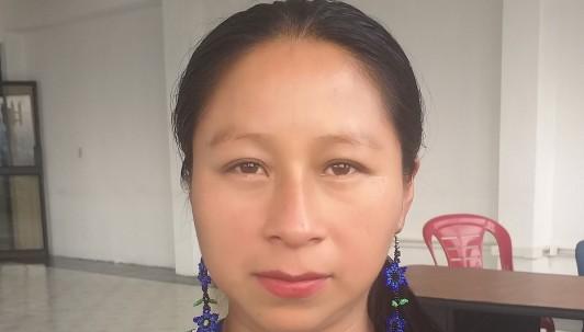 Indígenas exigen respeto a sus territorios y la Amazonía / foto cortesía facebook de Lineth Calapucha