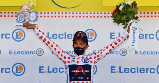 """Carapaz: """"Vamos a defender el maillot de líder de la montaña"""" / Foto: EFE"""