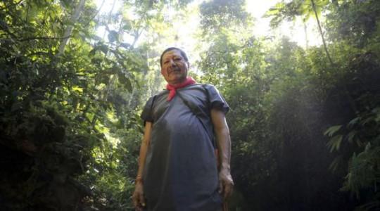Isidro Lucitante, presidente de la comunidad Avié, vive a orillas del Bermejo. Foto: Diego Pallero/ EL COMERCIO
