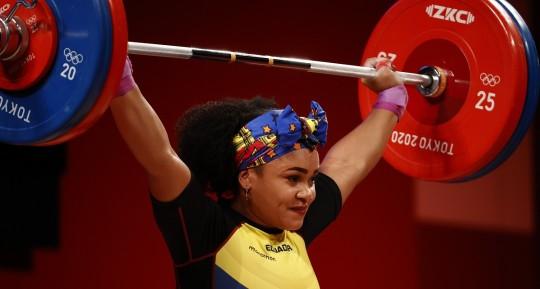 Neisi Dajomes primera ecuatoriana en obtener una medalla de oro en juegos olímpicos / Foto: EFE