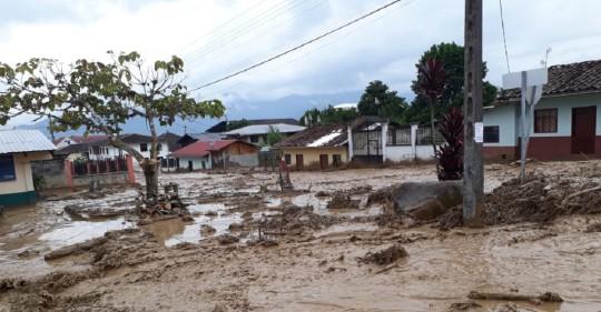 Las lluvias provocan estragos en Morona y Zamora / Foto: Cortesía del SNGRE