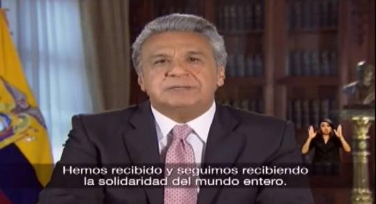 Lenín Moreno, presidente de la República. Foto: El Universo