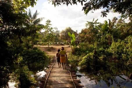 La comunidad achuar busca conservar su territorio y la enorme biodiversidad que alberga la cuenca del río Pastaza con la creación de la zona protegida. Foto: El Universo