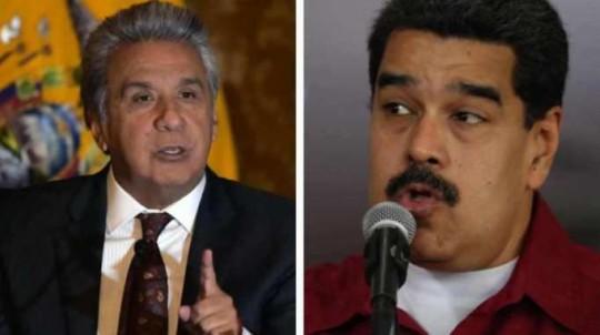 MANDATARIOS. Lenín Moreno y Nicolás Maduro, ahora distanciados. Foto: La Hora