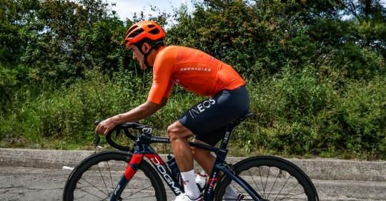 Richard Carapaz será el líder de Ineos en la Vuelta a Suiza/ Foto: foto cortesía Twitter Richard Carapaz