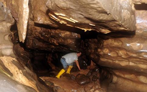 Interior de una sección de la Cueva de los Tayos. Foto: El Universo