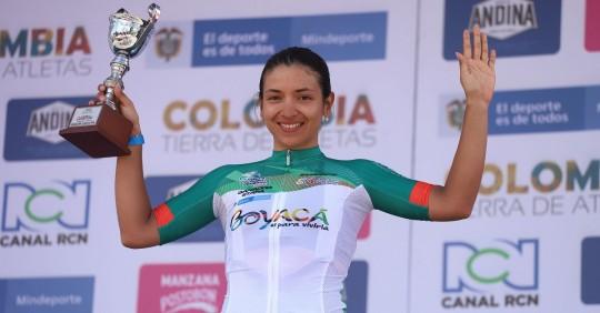 Miryam Núñez, cerca de ganar la Vuelta a Colombia / Foto: EFE