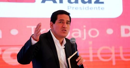 Andrés Arauz cierra su campaña en Guayaquil y evoca a la Revolución Ciudadana de Correa / Foto: EFE