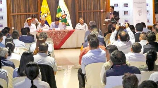 ACTO. La presentación de la nueva Política Pública Minera del Estado fue ayer en la mañana. Foto: La Hora
