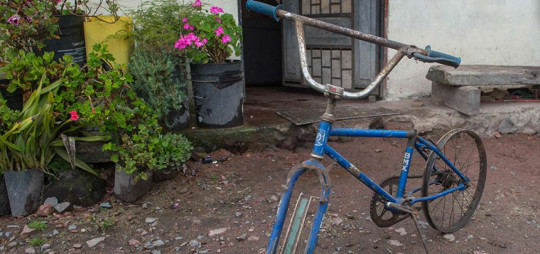 La vieja bicicleta modelo BMX está guardada en la casa de los padres de Richard Carapaz, en El Playón de San Francisco, en la provincia de Carchi. Foto: El Telégrafo