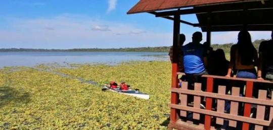 DISFRUTE. La laguna de Limoncocha es recorrida en bote por los turistas. Foto: La Hora