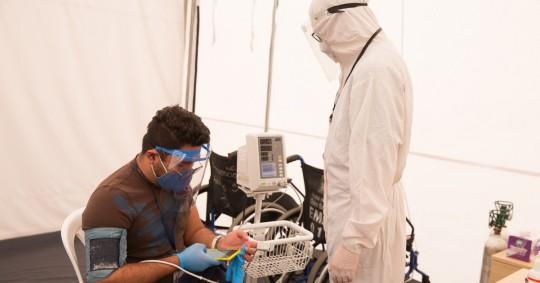 """La cifra de muertos por el nuevo coronavirus trepó a 9.129, medio centenar más que la víspera, a los que se suman 4.483 """"fallecidos probables"""""""
