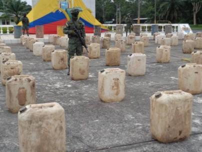Parte del material incautado en la zona de la frontera. Víctor Gómez