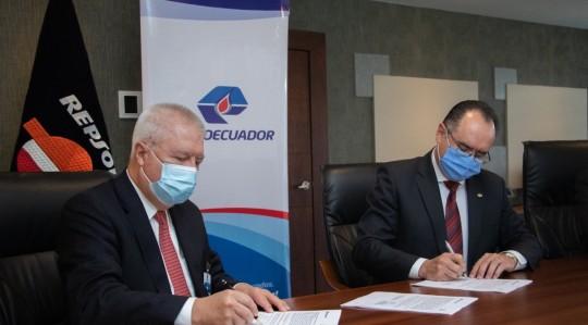 Petroecuador y Repsol firman convenio de cooperación técnica / Foto cortesía EP