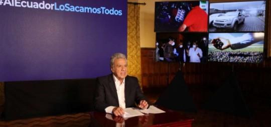 Imagen tomada de la cuenta de Twitter del presidente, Lenín Moreno.