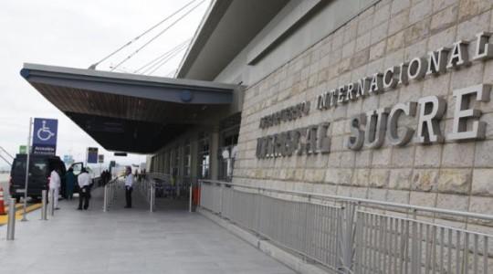 El Aeropuerto Mariscal Sucre de Quito está listo para volver a operar a partir del 1 de junio del 2020. El Municipio de Quito y la corporación Quiport elaboraron un protocolo, informó el alcalde Jorge Yunda. Foto: Galo Paguay/ EL COMERCIO.