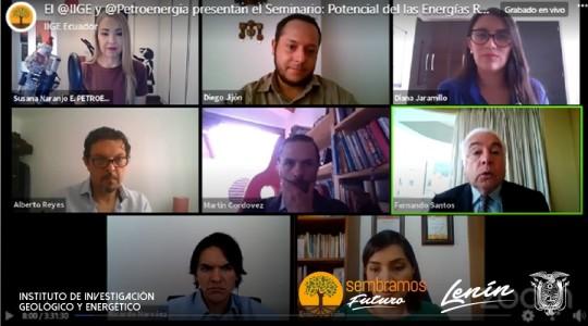 Las perspectivas del potencial de las Energías Renovables fueron revisadas en seminario virtual / Foto: IIGE
