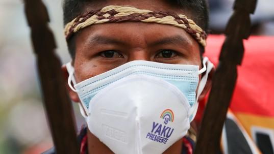 Indígenas convocan a nueva movilización por el recuento de votos / foto EFE
