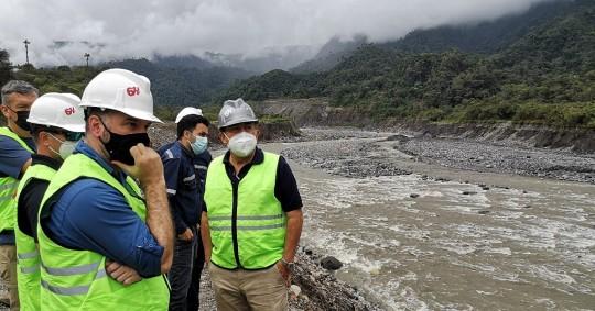El Cuerpo de Ingenieros del Ejército de EE.UU. brinda cooperación técnica para enfrentar la erosión del río Coca / Foto: cortesía CELEC