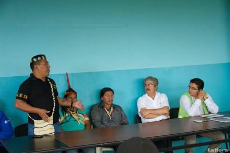 En días anteriores hubo una reunión entre delegados del Gobierno y de los indígenas por este caso.