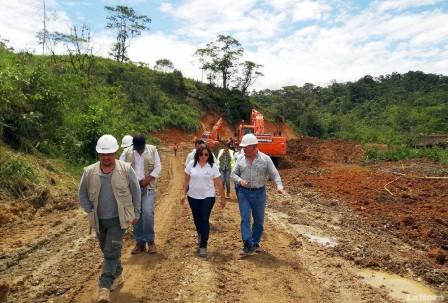 En el tramo El Dorado-Guayzimi se asfaltarán 18 kilómetros de carretera.