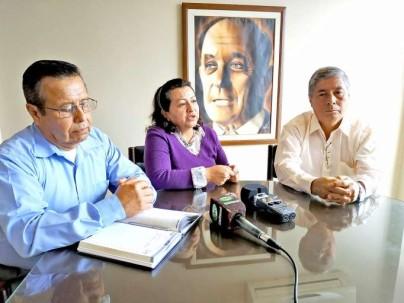 Las autoridades del Núcleo Provincial de la CCE informaron del evento mediante rueda de prensa. Foto: La Hora