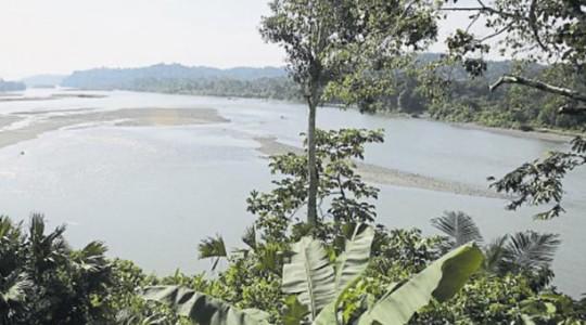 Vista panorámica del río Napo, que fue uno de los que navegó Sinclair junto a Theron Wasson. Foto: EL COMERCIO