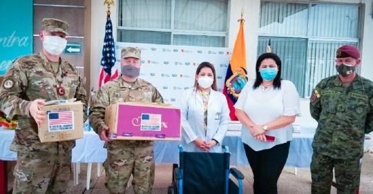 Estados Unidos entregó insumos médicos en Orellana y Sucumbíos / Cortesía de la Embajada de Estados Unidos