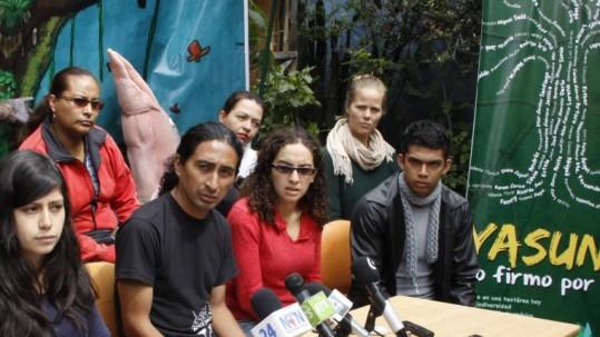 Años anteriores una asociación llamada Yasunidos recolectó firmas para evitar la explotación. Foto: Expreso