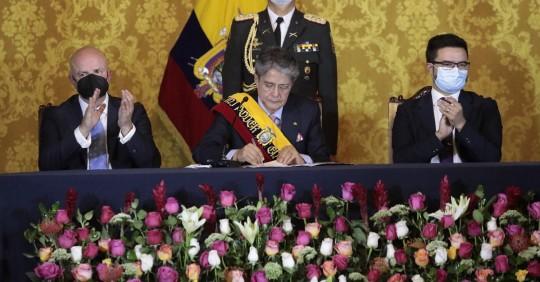 Lasso decreta norma ética gubernamental y designa a sus ministros / Foto: Cortesía Presidencia