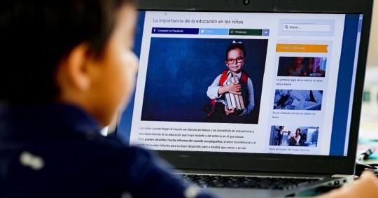 """Unicef, Acnur y Unesco lanzaron la campaña """"Educación es el camino"""". Foto: EFE"""